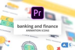 Videohive Banking and Finance – Animation Icons (MOGRT) 26754809