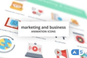 Videohive  Marketing and Business – Animation Icons 26634668