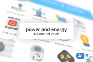 Videohive Power and Energy – Animation Icons 26634686