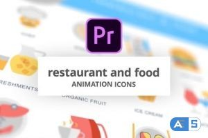 Videohive Restaurant and Food – Animation Icons (MOGRT) 26755817