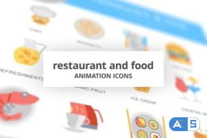 Videohive Restaurant and Food – Animation Icons 26634696