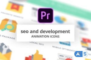 Videohive SEO and Development – Animation Icons (MOGRT) 26755832