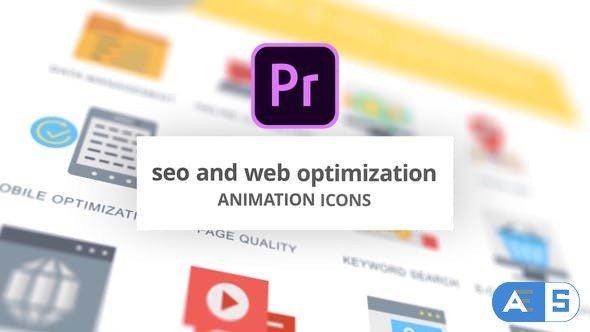 Videohive SEO and Web Optimization – Animation Icons (MOGRT) 26755868