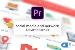 Videohive Social Media and Network – Animation Icons (MOGRT) 26756357