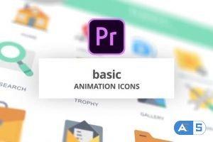 Videohive Basic – Animation Icons (MOGRT) 26755153