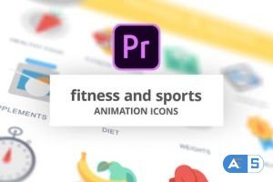 Videohive Fitness and Sports – Animation Icons (MOGRT) 26755718
