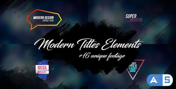 Videohive 16 Modern Titles Elements Text Backgrounds/ Interface/ Lower Third/ Dance Party/ Youtube Blogger 18240334