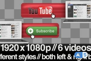 Videohive Youtube Subscribe Lower 3rd Bug – 3 Styles + Alpha 2295917