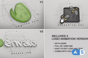 VideoHive  Architect Logo Reveal (3 versions) 9919777