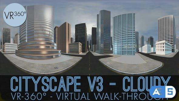 Videohive VR-360° Cityscape V3 Cloudy 18629048