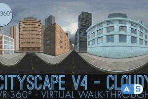 Videohive VR-360° Cityscape V4 Cloudy 18650662