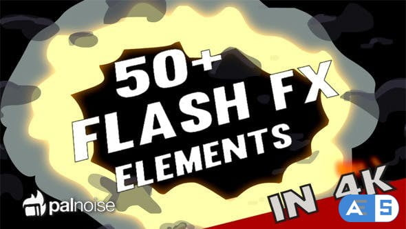 Videohive Flash FX Elements 4K (54-Pack) 12920296