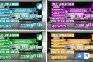 VideoHive Solid Lower Third 9984211