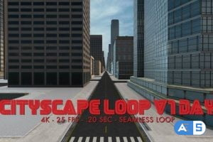 Videohive Cityscape Loop 1 Day 4k 18601815