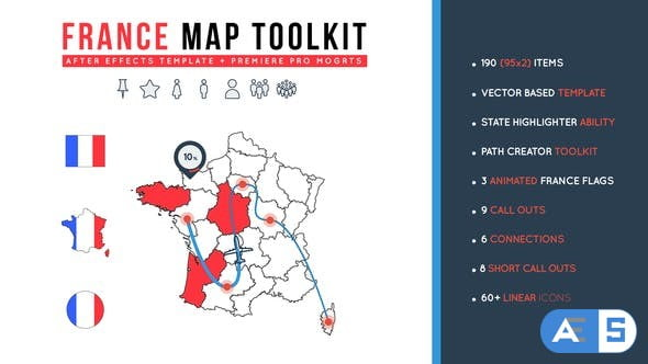 Videohive France Map Toolkit 26891777