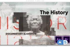 Videohive History Timeline Documentary Slideshow 26752846