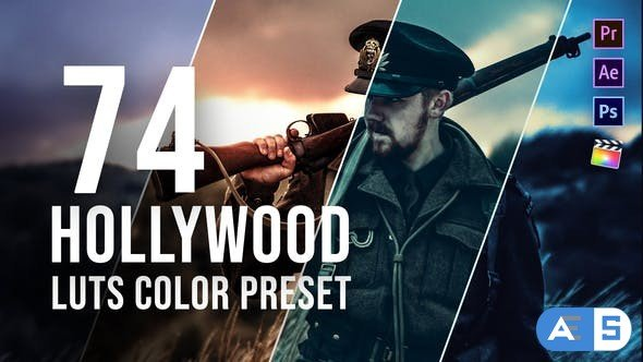 Videohive Hollywood LUT Color Grading Pack 26441281