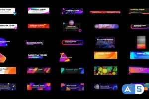 Videohive Pop Lower thirds 26746831