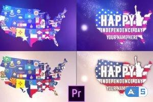 Videohive USA States Flag Logo – Premiere Pro 26816876