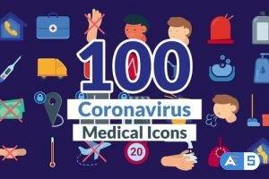 Videohive Corona Virus Icons 26721767