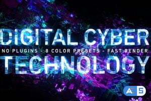 Videohive Digital Cyber Technology Logo Reveal. 8 Color Presets. 26624926