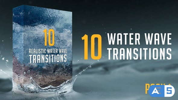 Videohive Water Wave Transitions Pack 1 21658639