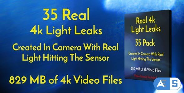 Videohive 4k Real Light Leaks 35 Pack Of Effect Overlays 18223799
