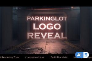 Videohive Parking-lot Logo Reveal 26875861