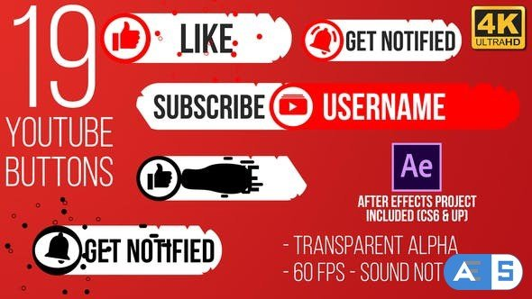 Videohive Youtube Subscribe Button Splat 4K (Video) 25101318