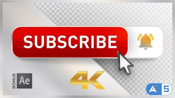Videohive Youtube Subscribe Button 22745696