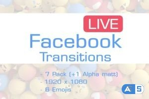 Videohive Facebook Like Reactions Transition 19619829