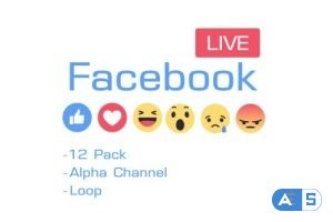 Videohive Facebook Like Reactions 12 Pack 19587458