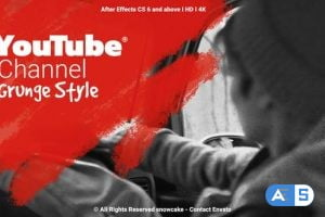 Videohive YouTube Channel Grunge Style 26592493