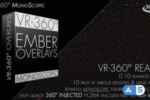 Videohive Burning Ember Overlay VR-360° Editors Pack (Monoscopic) 19015940