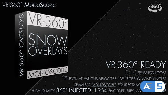Videohive Snow Overlay VR-360° Editors Pack (MonoScopic) 18750145