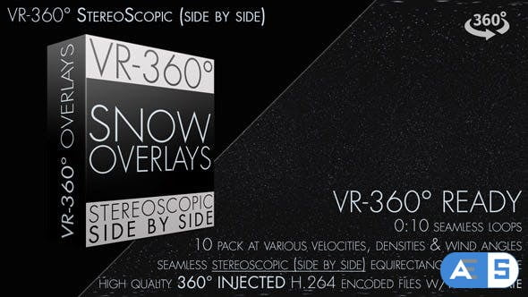 Videohive Snow Overlay VR-360° Editors Pack (StereoScopic 3D Side by Side) 19227792