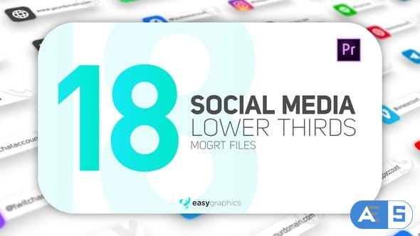 Videohive Modern Social Media Lower Thirds 26662706