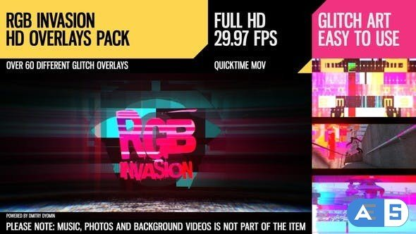 Videohive RGB Invasion (Overlays Pack) 19537494