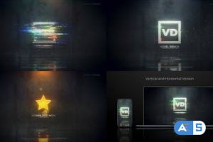 Videohive Glitch Dissolve Logos Transitions Reveal 26774983