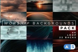 Videohive Worship Backgrounds Pack 21637485