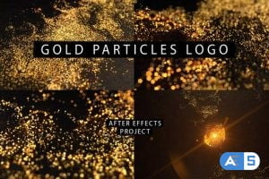 Videohive Gold Particles Logo 26580796