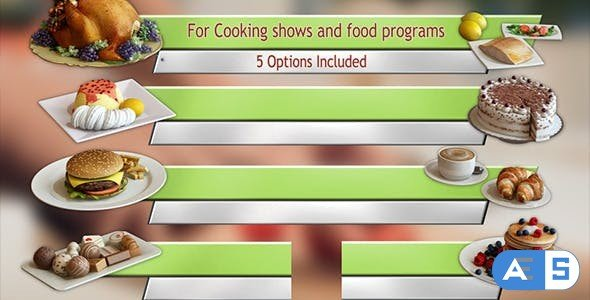 Videohive Cooking TV Lower Third Pack (5) 11563581
