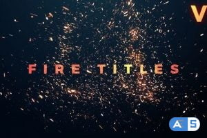 Videohive Fire Titles 21787342