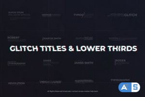 Videohive Modern Glitch Titles & Lower Thirds 26679278