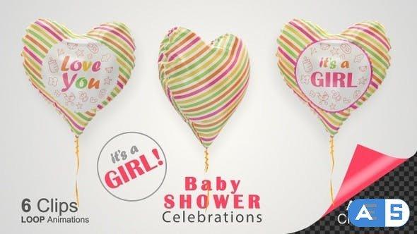Videohive Baby Shower Celebration – Baby Girl 26730879
