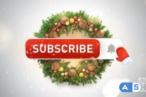 Videohive Youtube Subscribe Button (Christmas Edition) 23018956