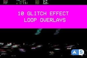Videohive 10 Glitch Loop Effect Pack 26466068