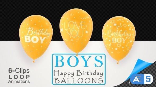 Videohive First Birthday Celebration Balloons – Baby Boy 26731993