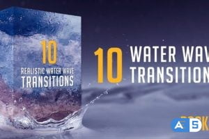 Videohive Water Wave Transitions Pack 2 23049175