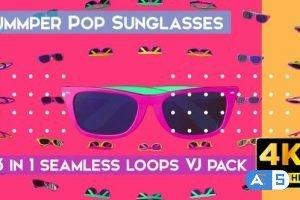 Videohive Summer Pop Sunglasses VJ Loops 26698115
